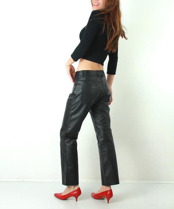9a01c2b0ab1551 Motorcycle Pants / Highway 1 Pants / Black Leather Pants / Man   Etsy