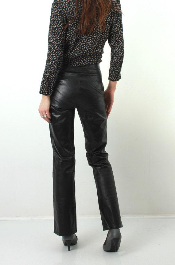 Catherine Khan Pants / Faux Pants / Woman Faux Pants / Medium Pants / Woman Black Pants / Black Pants / 90s Pants / Vintage Black Pants