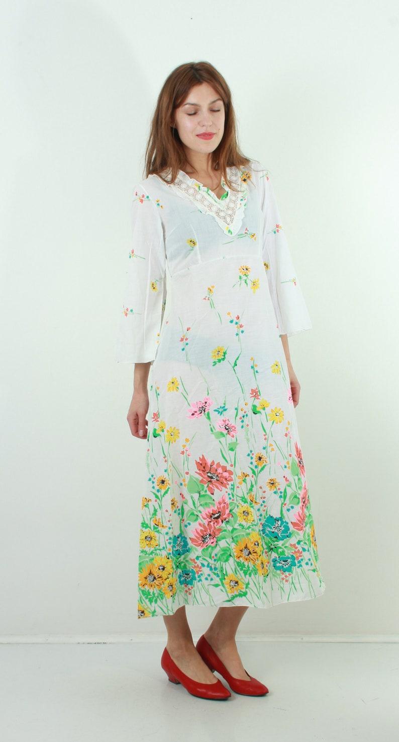 61c6c040e32 90 s robe fleurie   Vintage Maxi robe   petit Maxi robe