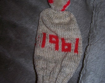 Hand Knitted Golf Club Cover 30 40 50 60 Birthday Gift