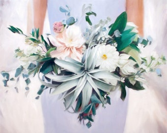 Flower painting etsy wedding bouquet custom painting wedding gift flowers painting wedding flowers flowers bouquet mightylinksfo