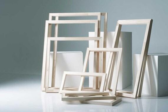 Art Supplies Stretcher Frames Pure Pine Wood Assembled Etsy