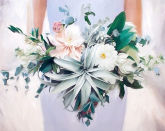 Painting of Wedding Flowers, Gift for Wife, Gift for Her, Gift Ideas for Wife, Gift for Wife Birthday, Anniversary Gift