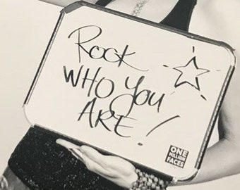 Rock Who You Are!  Sadie Nardini | One Million Faces Project | Motivational Art