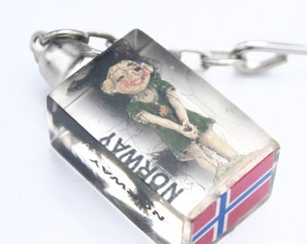 Norway Troll Key chain lucite