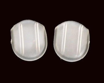 clear plastic clip on earrings pads comfort slip pads