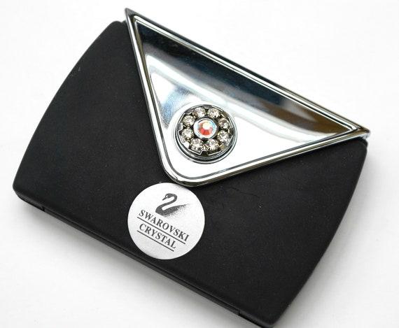 Swarovski crystal Mirror compact wallet 7x plus mirror vanity makeup mirror