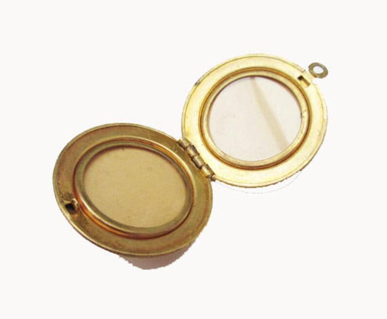 Gold filled Locket Pendant  floral etched design two photos  Victorian revival pendant