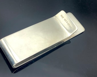 Tiffany and Co  Money Clip Sterling Silver