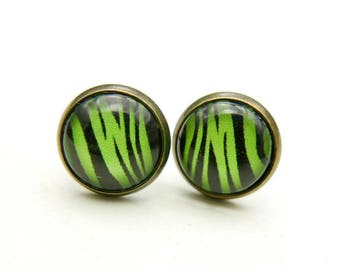 Zebra stripes studs Earrings 1212