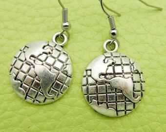 Earth Earrings stainless steel