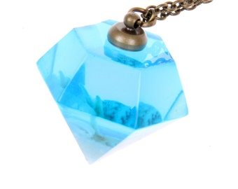 Magie blue ocean Diamond seashell Necklace