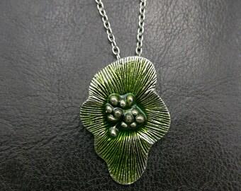 Boho Green flower Necklace jewelry