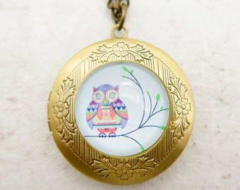 Owl Necklace locket 2020m