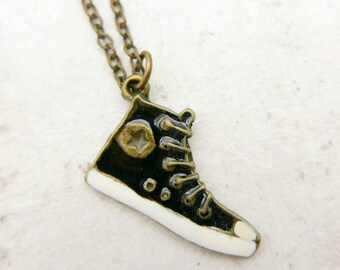 Converse Shoes Necklace, paint by hand