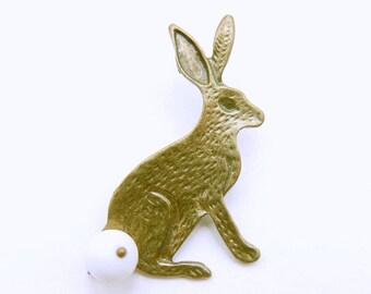 Rabbit Brooch, Bunny Brooch