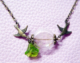 Necklace Crested dandelion bird