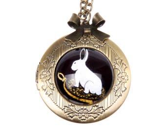 Bunny Necklace, Bunny locket,  2020m