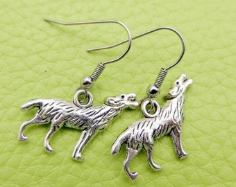 Wolf Earrings stainless steel