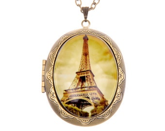 Eiffel Tower locket, Eiffel Tower Necklace,  (3040m)