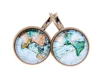 World map Earrings 1616