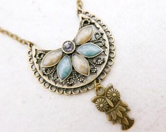 Owl Necklace, Boho necklace, Boho jewelry,