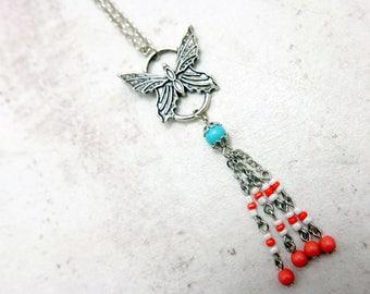 Butterfly Necklace, Boho necklace, Boho jewelry,