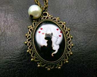Cat Necklace Jewelry cat lover gift, 1825C
