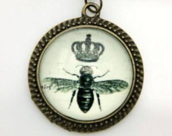 Bee Necklace, Crown Necklace, 2525C