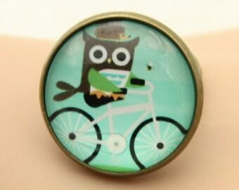 Owl ring, Bike ring, (2020B)