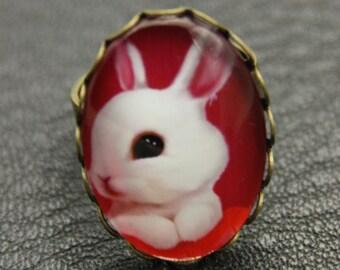 Little rabbit ring, rabbit ring, 1825B