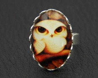 Owl ring, cute owl ring (2020B)