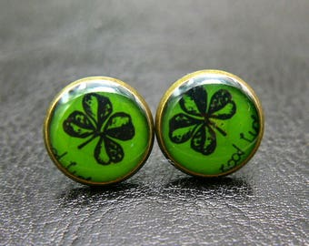 Clover studs Earrings 1212
