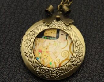 Necklace locket Expectation Klimt  2020m