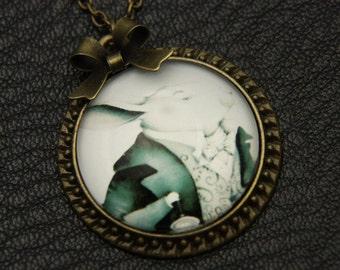 Rabbit Necklace, Alice in wonderland, 2525C