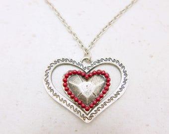 Heart Necklace, Boho necklace, Boho jewelry,