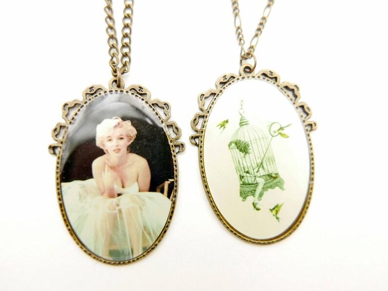 3040c cage Necklace Marilyn Monroe Necklace