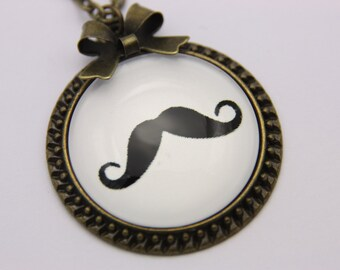 Mustache Necklace jewelry, Hipster Jewelry,funny necklace,  2525C