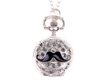 Mustache Necklace Pocket watch