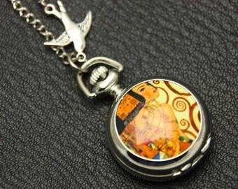 Necklace pocket watch Expectation Klimt 2222M