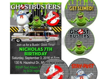 Ghostbusters Inspired Boys Birthday Party Set -Printable File