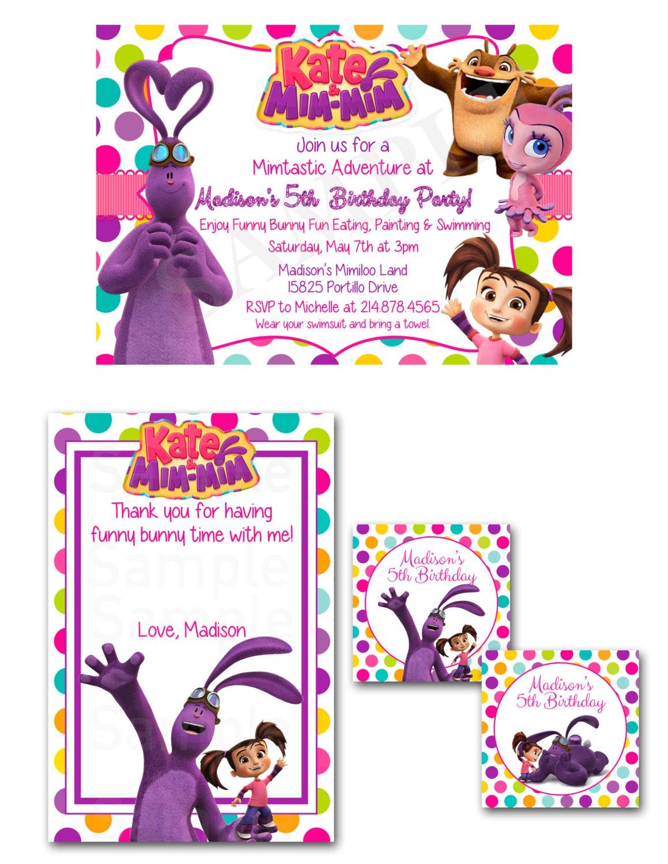 Kate & Mim Mim Birthday Party Set Printable File | Etsy