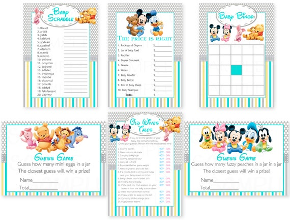 Baby Shower Games Disney Baby Mickey Mouse Inspired Baby Shower
