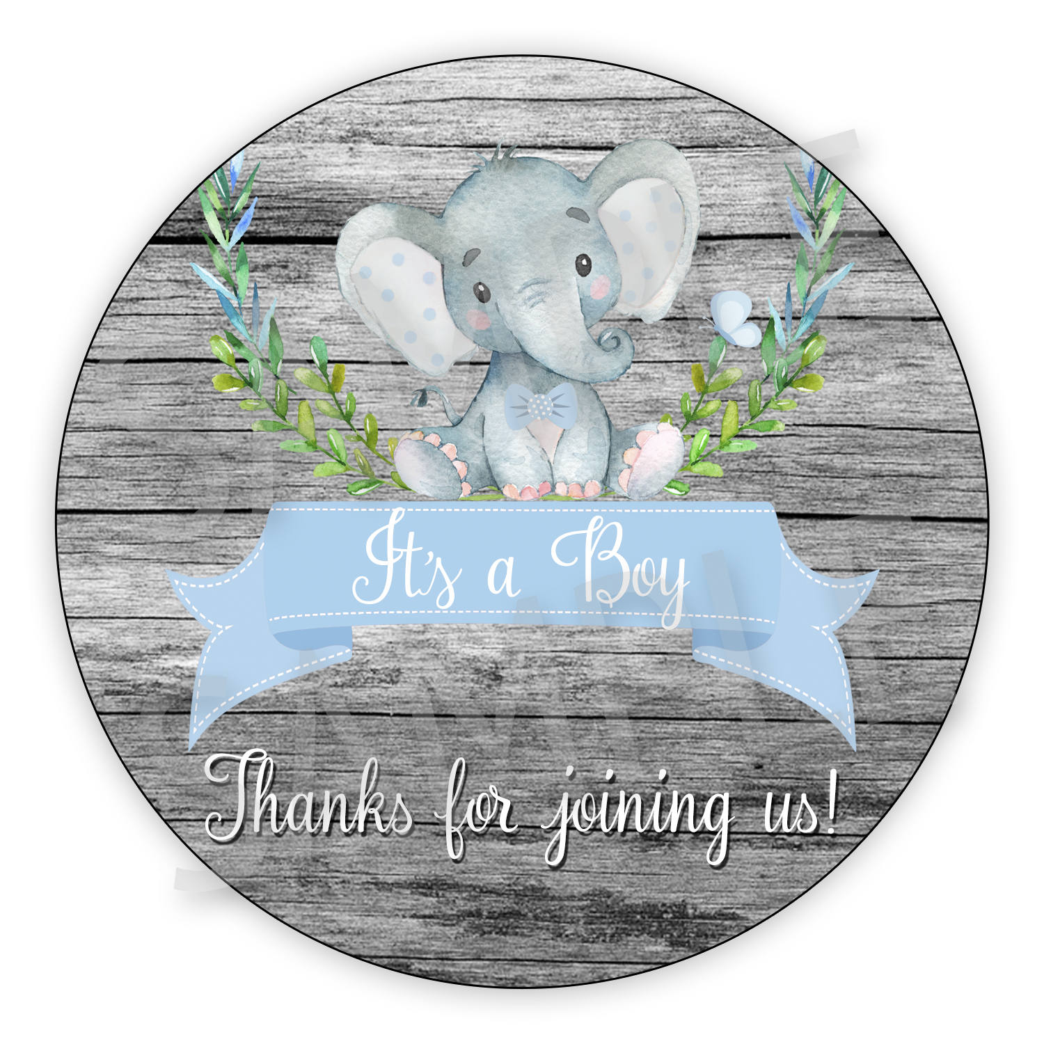cute its a boy baby elephant baby shower gift tags printable etsy