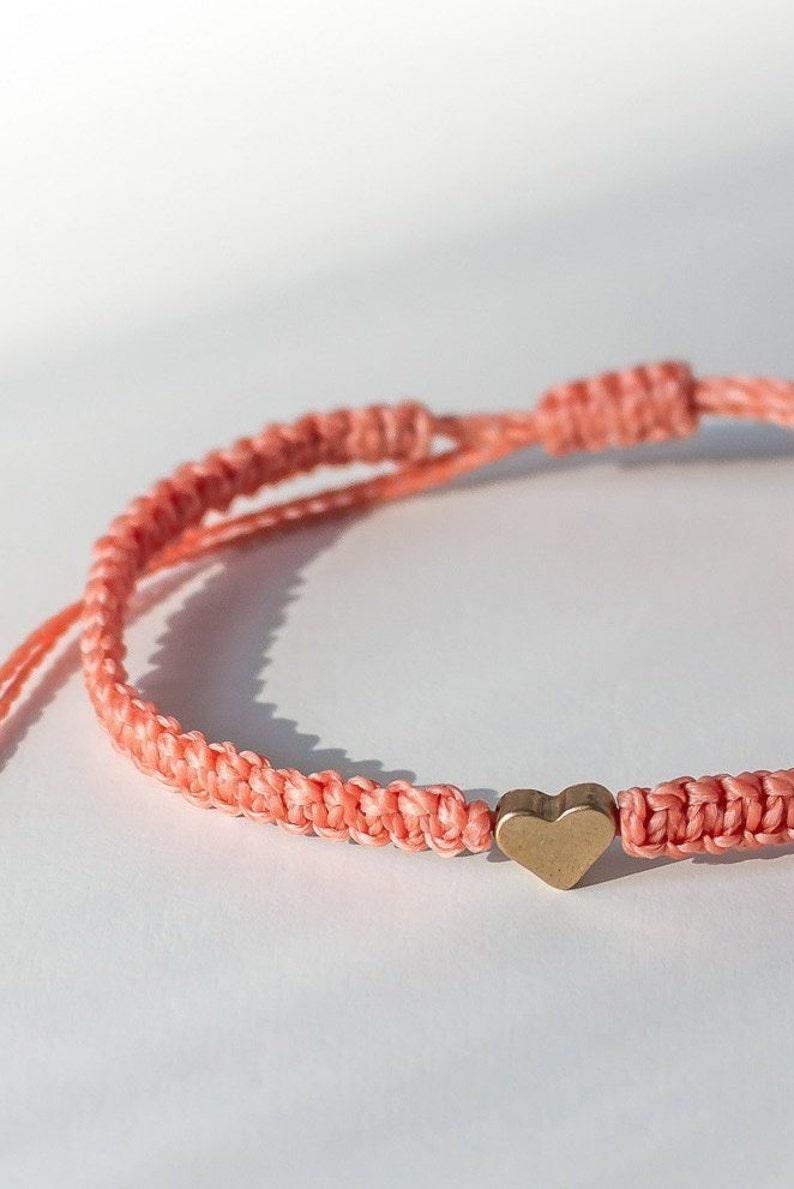 4cdbc898c609c Macrame bracelet Heart bracelet Friendship bracelet Long distance  relationship Matching couple bracelets His and her bracelet