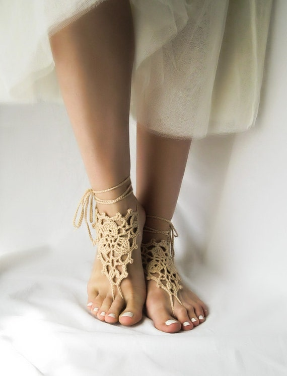 Boho sandals Gift for Women Personalized Infinity Crochet Barefoot sandals Bride Personalized bottomless sandals Beach Wedding shoes