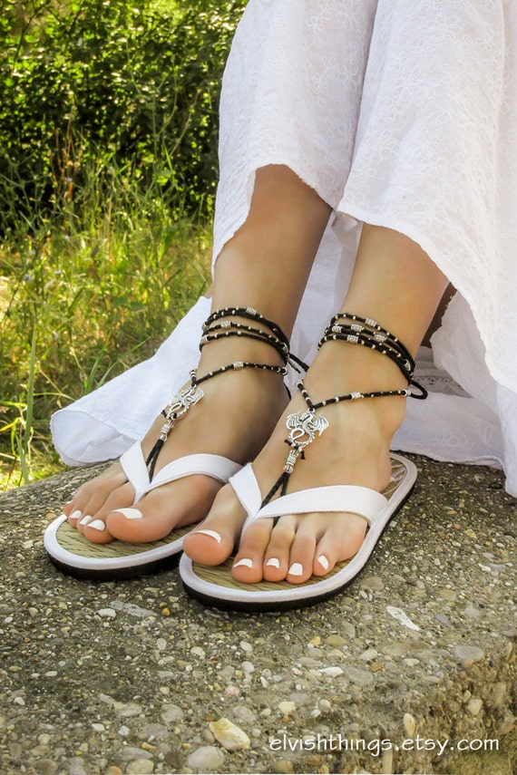 Gothic sandles dragons Boho sandals anklets bottomless Beach with sandals sandals Hippie Beaded barefoot footless wedding barefoot fwgxZrfq