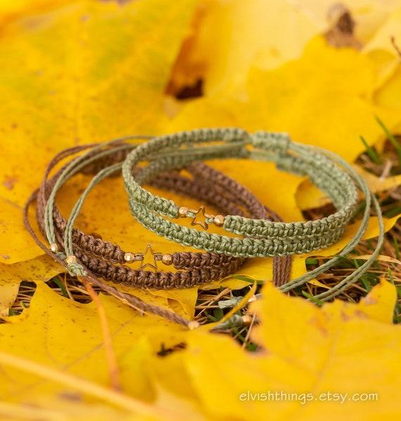 a83181939b1f9 Star bracelets Macrame bracelet Couples bracelet Long distance boyfriend  gift Matching couple bracelets His and hers gifts - set of 4