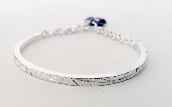 Handmade Sterling Silver Bracelet Simple And Modern Jewelry Etsy