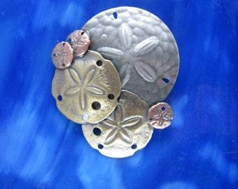 7adcf3b89 Sand Dollar Brooch- Sand Dollar Jewelry- Seashells- Dand Dollar Pendant